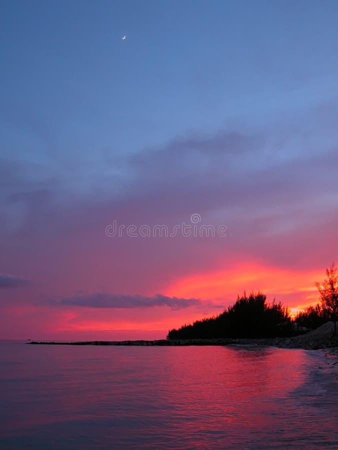 Oceaan Zonsondergang royalty-vrije stock afbeeldingen