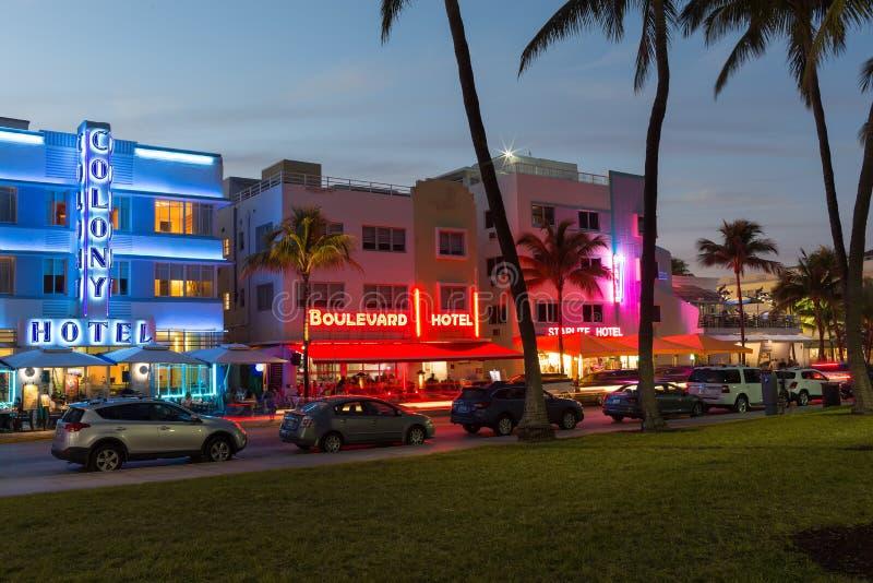 Oceaanaandrijving, Miami stock foto's