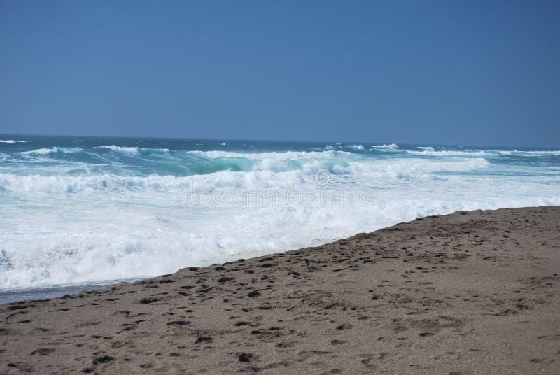 Oceaangolven in de Vreedzame Oceaan stock foto's