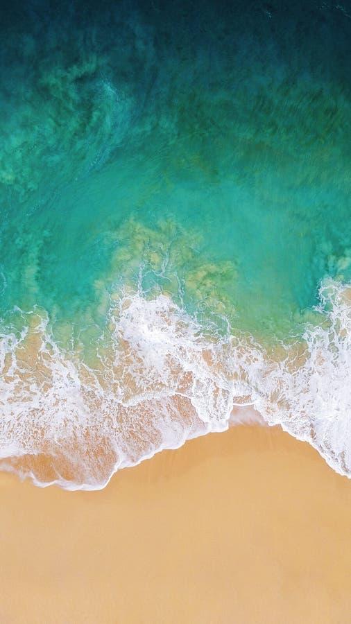 Oceaangolven op het water van de strand zonnige dag royalty-vrije stock foto's