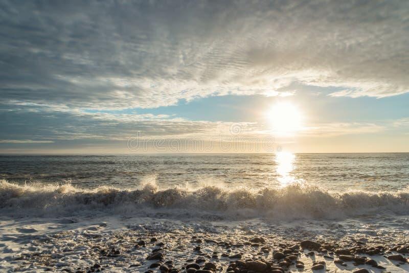 Oceaankust Vuurtoren van San Pedro de Moel stock foto's