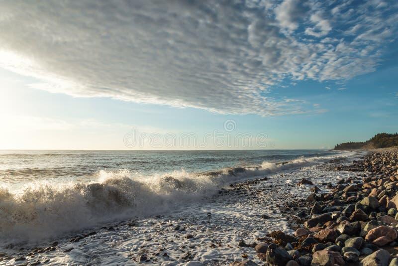 Oceaankust Vuurtoren van San Pedro de Moel royalty-vrije stock foto