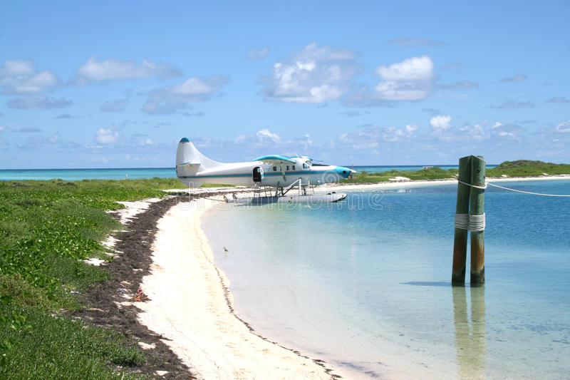 Oceaanmening in het Droge Nationale Park van Tortugas stock foto's