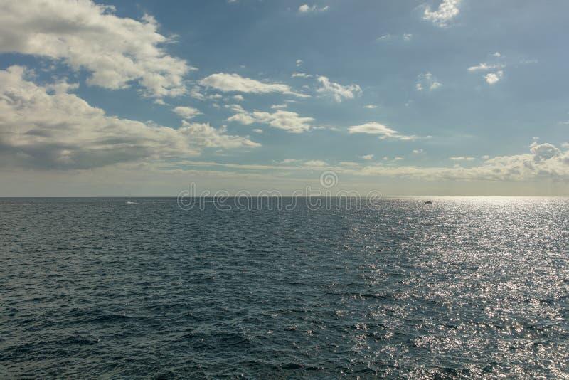 Oceaanmening met horizon royalty-vrije stock foto