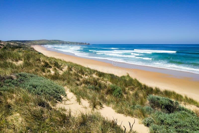 Oceaanmening met strand op Phillip Island, Australië royalty-vrije stock fotografie