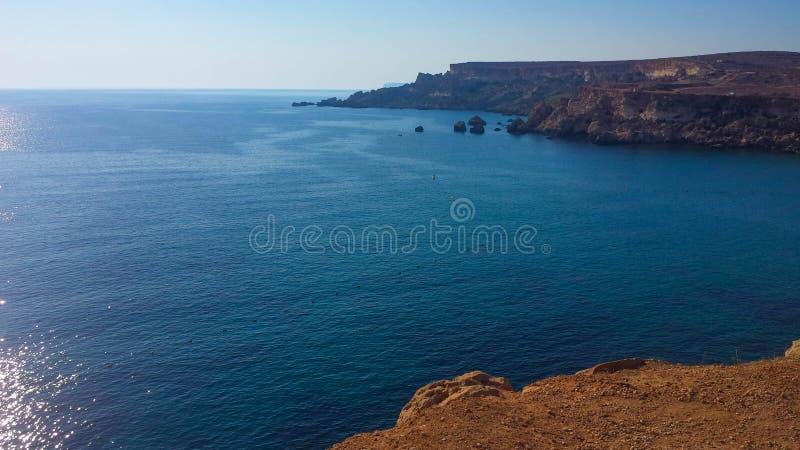 Oceaanmening van Malta royalty-vrije stock afbeelding