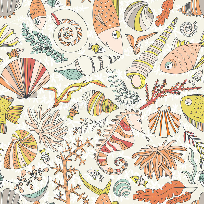 Oceaanpatroon royalty-vrije illustratie