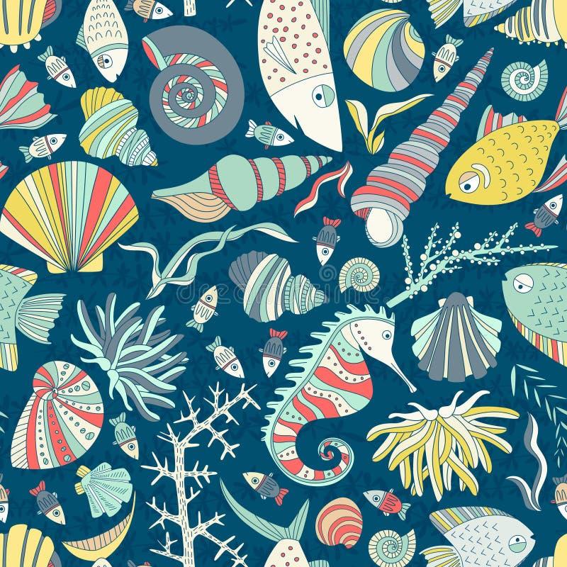 Oceaanpatroon stock illustratie