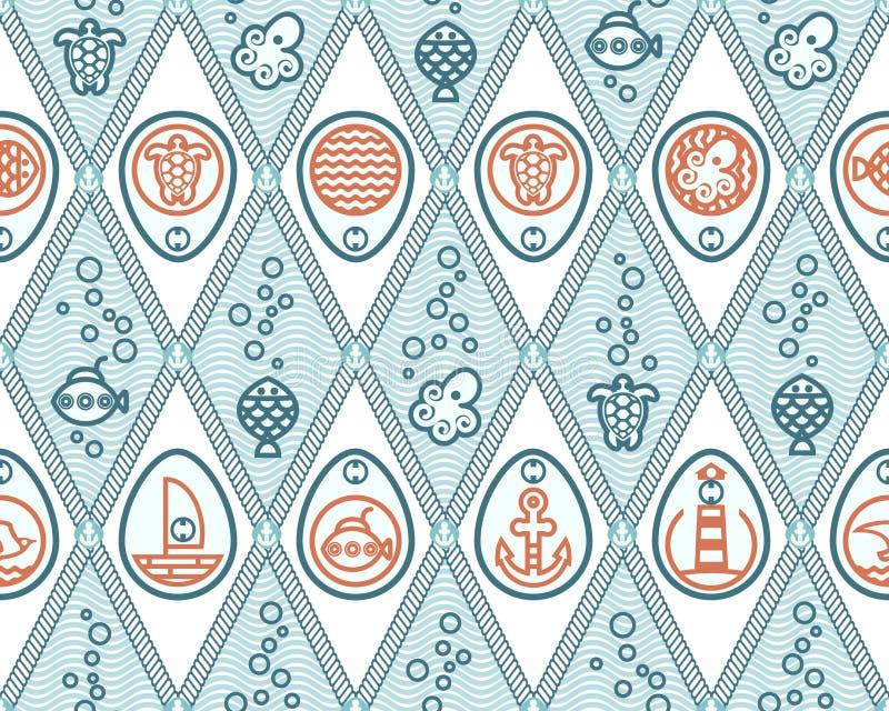 Oceaanpatroonruit royalty-vrije stock afbeelding