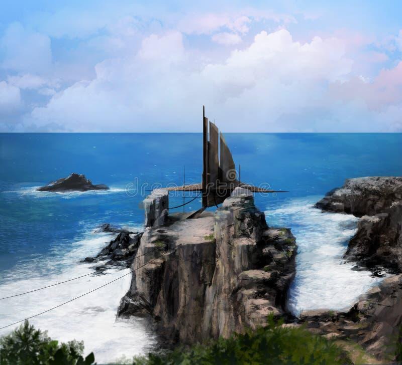 Oceaanruimteschip royalty-vrije illustratie