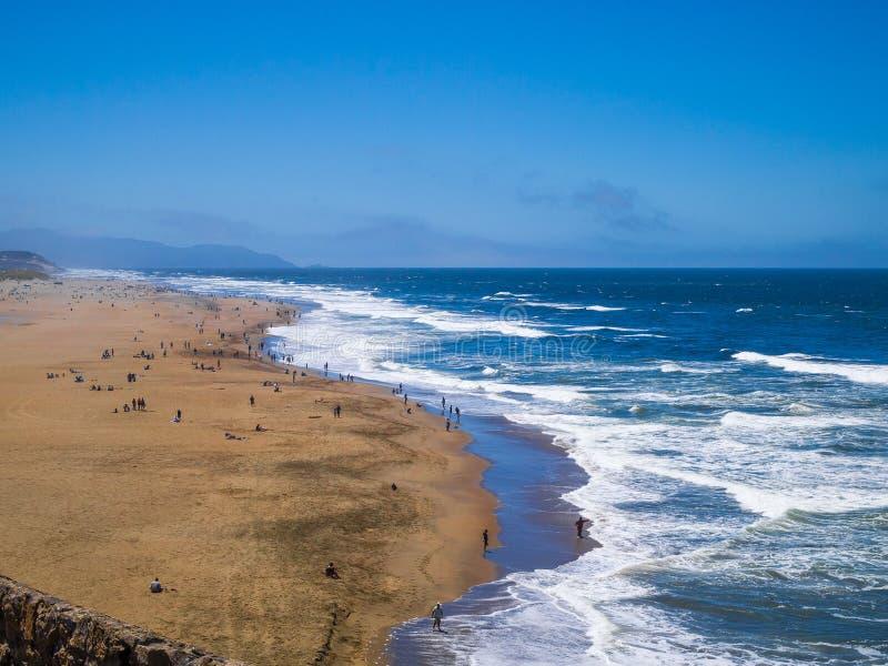 Oceaanstrand San Francisco stock foto's