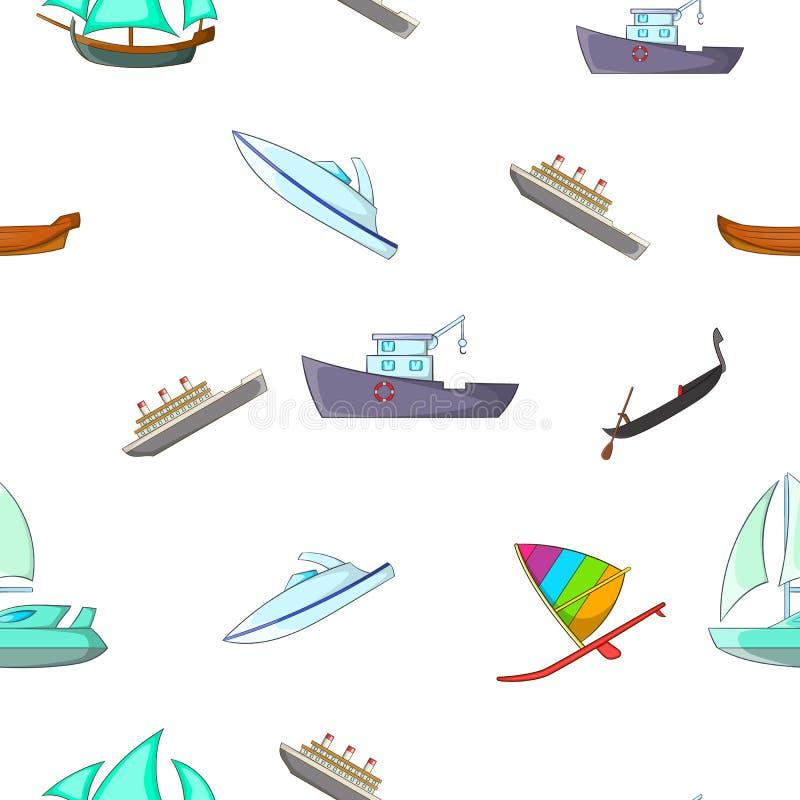 Oceaanvervoerpatroon, beeldverhaalstijl royalty-vrije illustratie