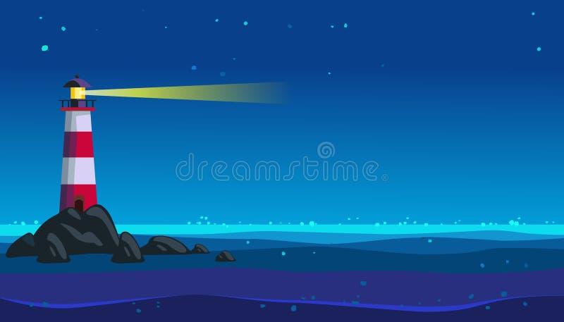 Oceaanvuurtoren royalty-vrije stock afbeeldingen
