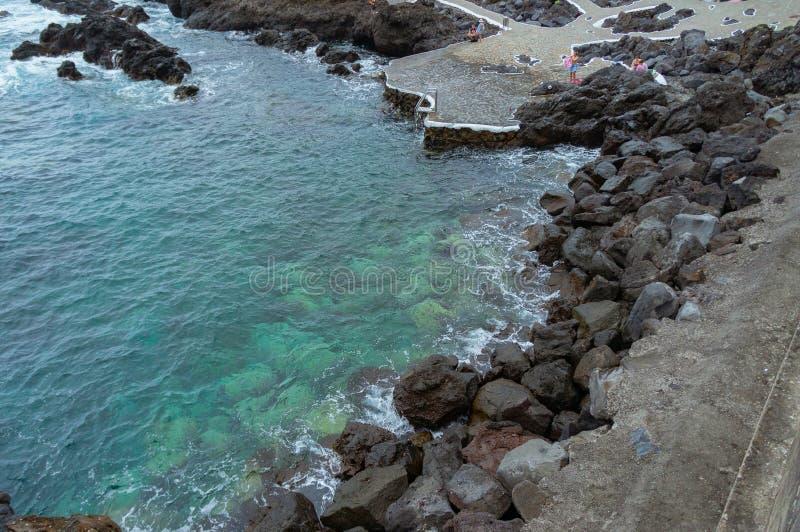 Oceanów baseny Garachico miasteczko, Tenerife, wyspy kanaryjska, Hiszpania obraz royalty free