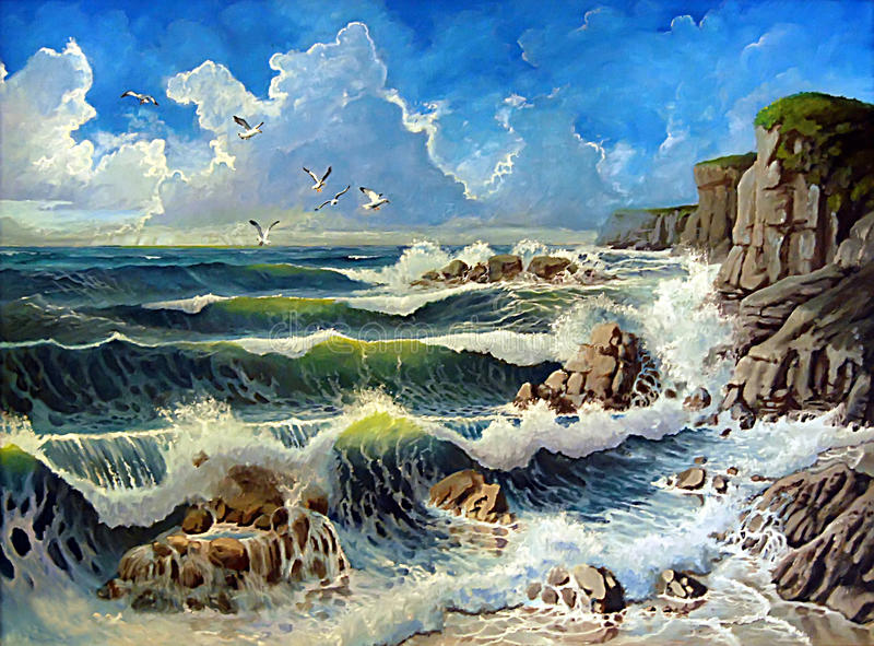 ocean royalty ilustracja