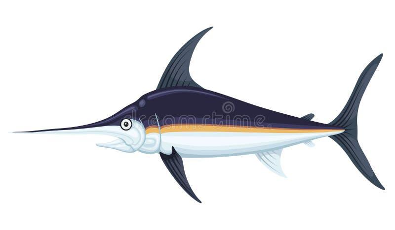 Ocean ampuły swordfish ilustracji