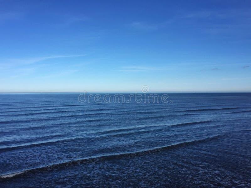 North Sea at Saltburn stock image