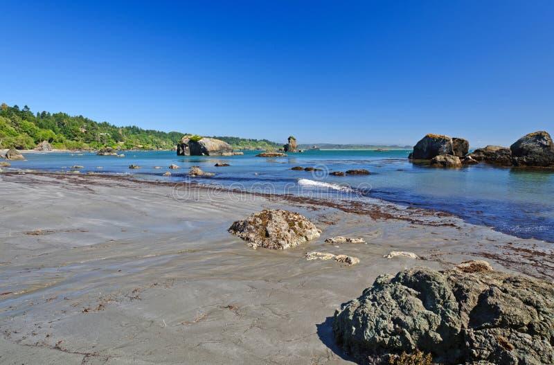 An Ocean Bay at Low Tide stock image