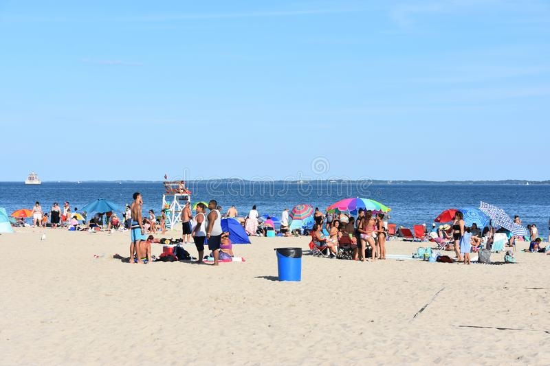 Ocean Beach in Connecticut. Ocean Beach in New London, Connecticut stock photography