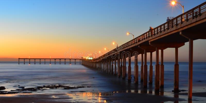 Ocean beach pier stock image