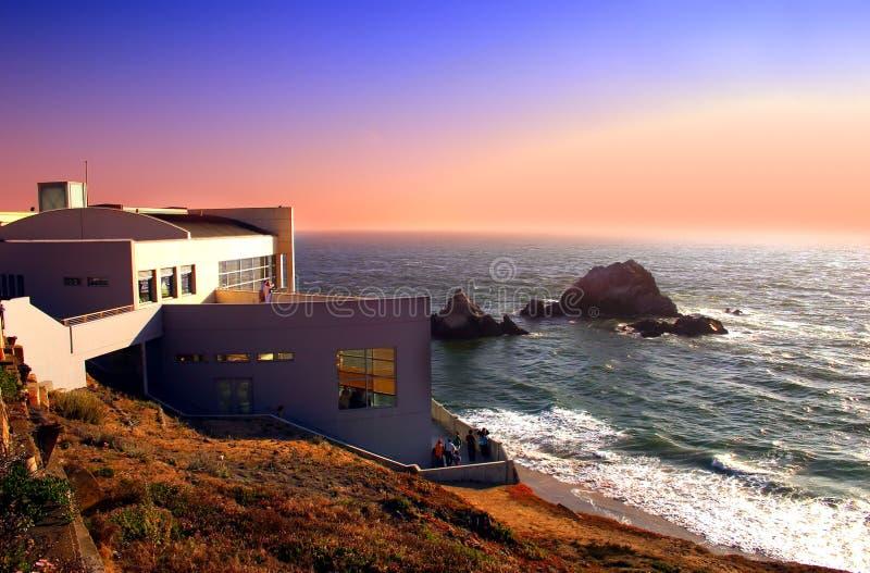Ocean Beach, San Francisco. Ocean Beach is a beach that runs along the west coast of San Francisco, California, United States, at the Pacific Ocean stock images