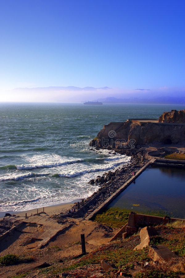 Ocean Beach, San Francisco. Ocean Beach is a beach that runs along the west coast of San Francisco, California, United States, at the Pacific Ocean royalty free stock image