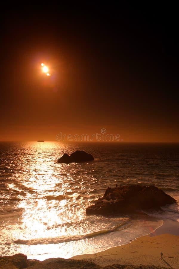 Ocean Beach, San Francisco. Ocean Beach is a beach that runs along the west coast of San Francisco, California, United States, at the Pacific Ocean royalty free stock photography