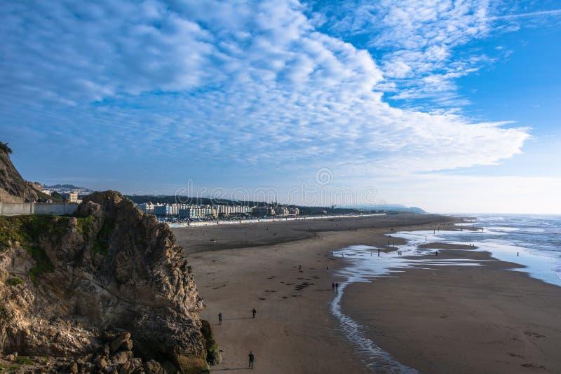 Ocean Beach, San Francisco. View of Ocean Beach in San Francisco royalty free stock photo