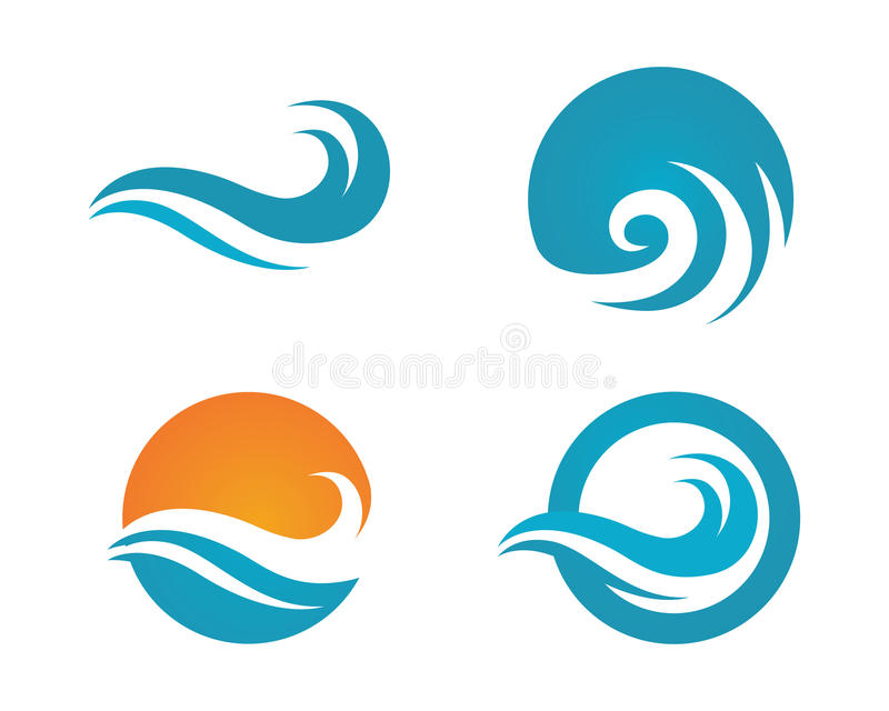 Ocean beach wave logo royalty free illustration