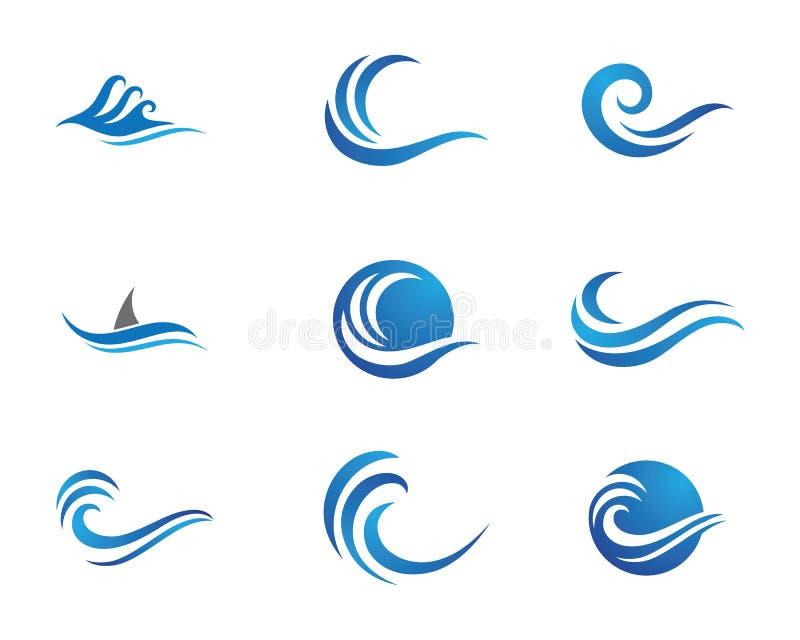 Ocean beach wave logo. Template