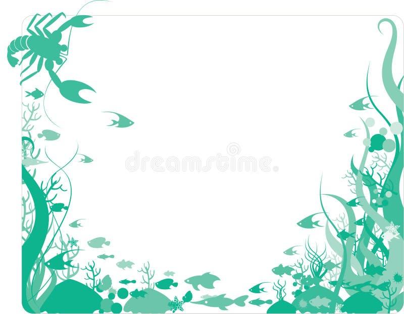 Download Ocean border stock vector. Image of swimming, swim, illustration - 10740724