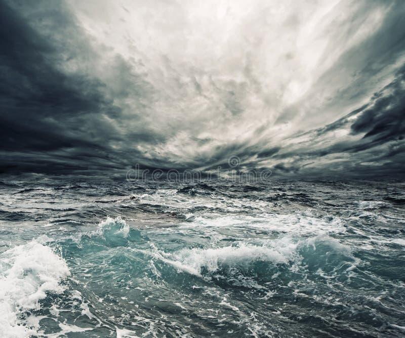 ocean burza fotografia stock