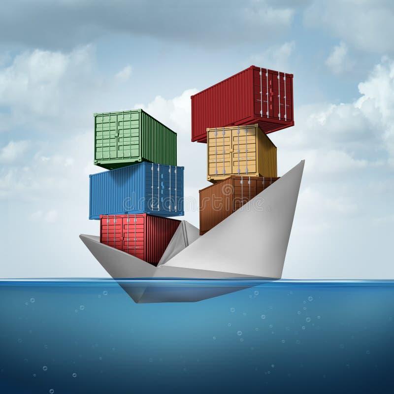 Ocean Cargo Ship stock illustration