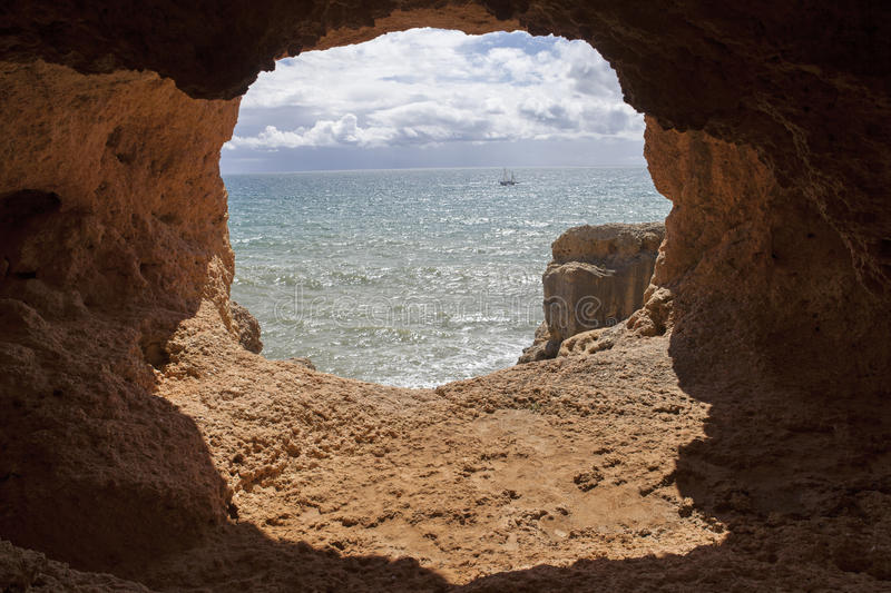 Ocean cave royalty free stock photography