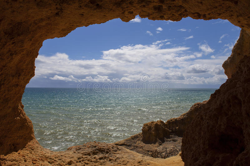 Ocean cave royalty free stock photo