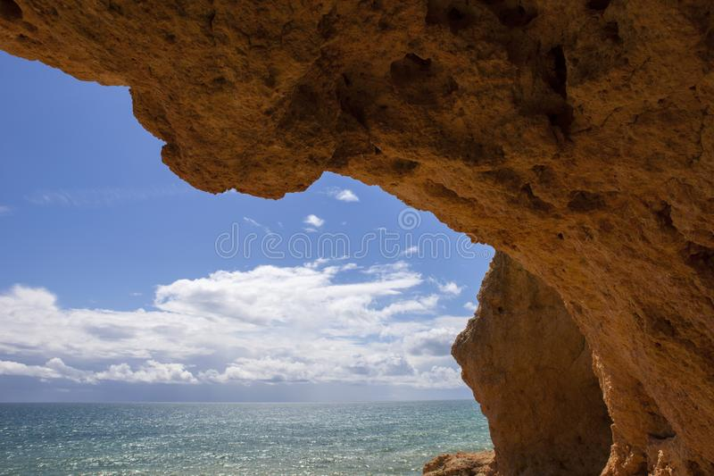 Ocean cave stock photography