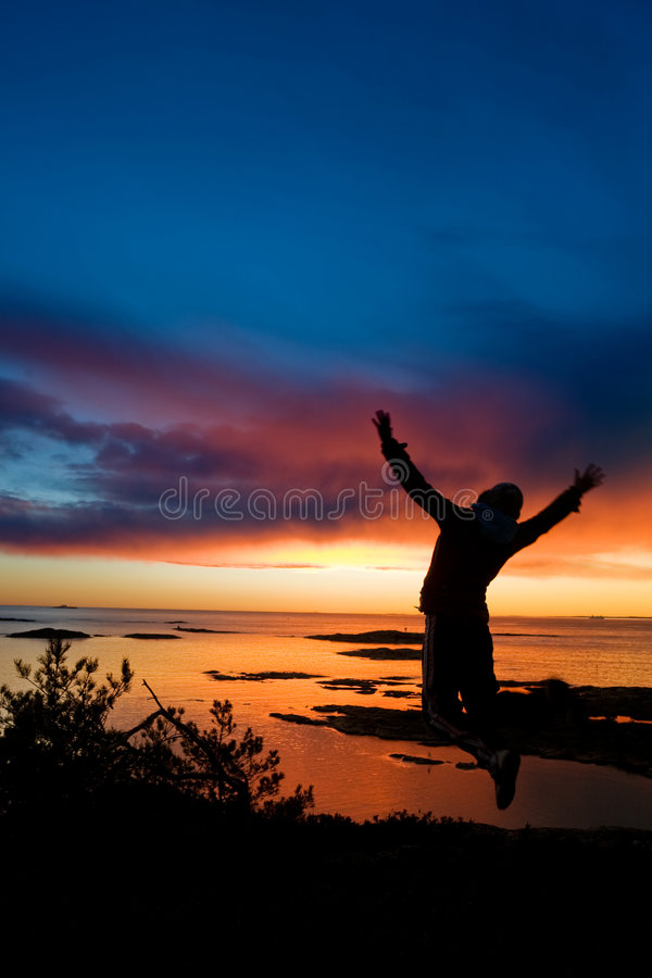 Ocean Cheer royalty free stock photos