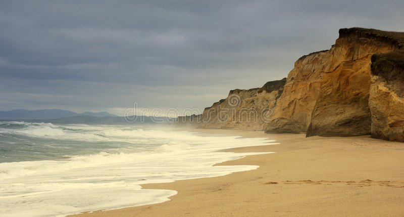 Ocean Cliff royalty free stock photography