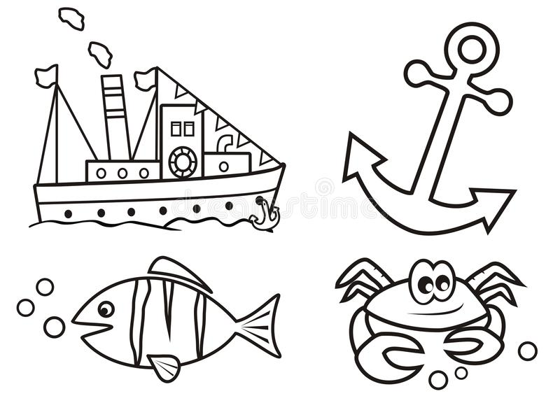 download ocean coloring book stock vector image 40220579 - Ocean Coloring Book