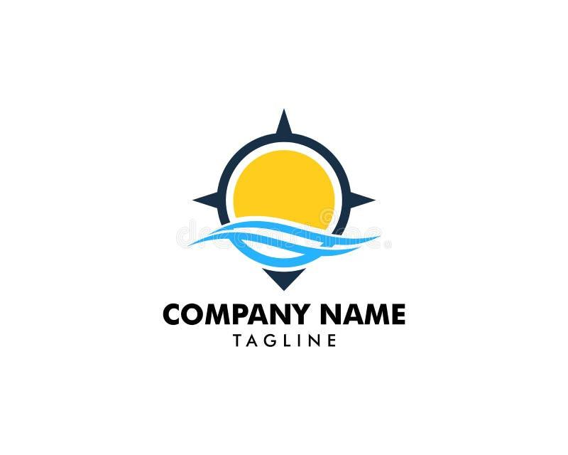 Ocean Compass Logo Design Element. Ocean Compass Logo vector illustration