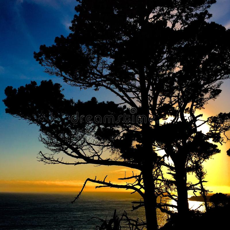 Ocean Cove Sunset royalty free stock photography