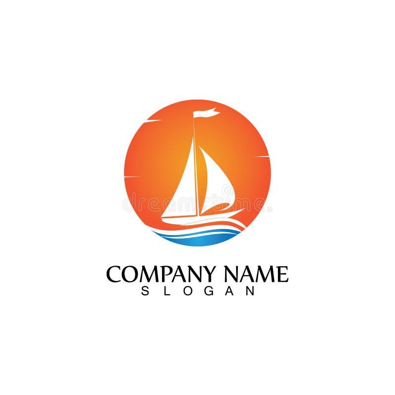 Ocean Cruise Linear Ship Silhouette Simple Linear Logo