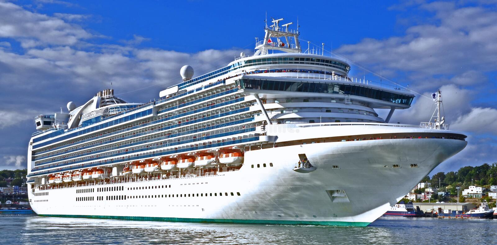 Ocean cruise liner royalty free stock photography