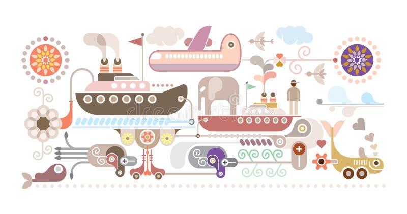 Ocean Cruise - vector illustration vector illustration
