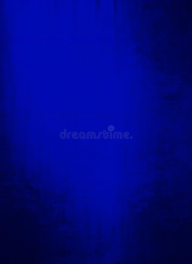 Ocean Deep Royal Blue Grunge Background stock image