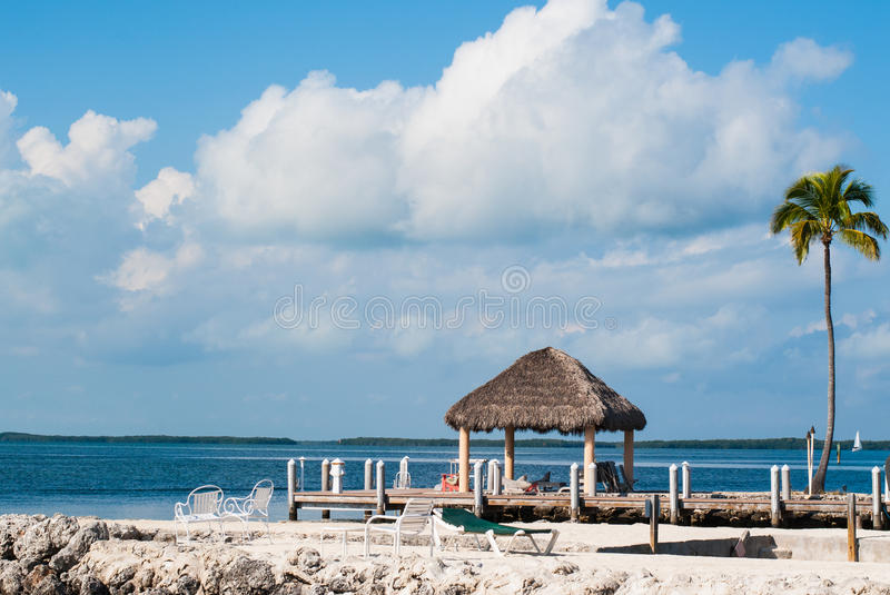 Ocean and Dock in Key Largo royalty free stock image