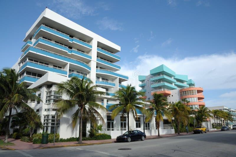 Ocean Drive in Miami stock photos