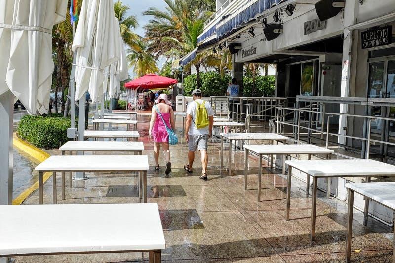 Ocean Drive Miami Beach royalty free stock image