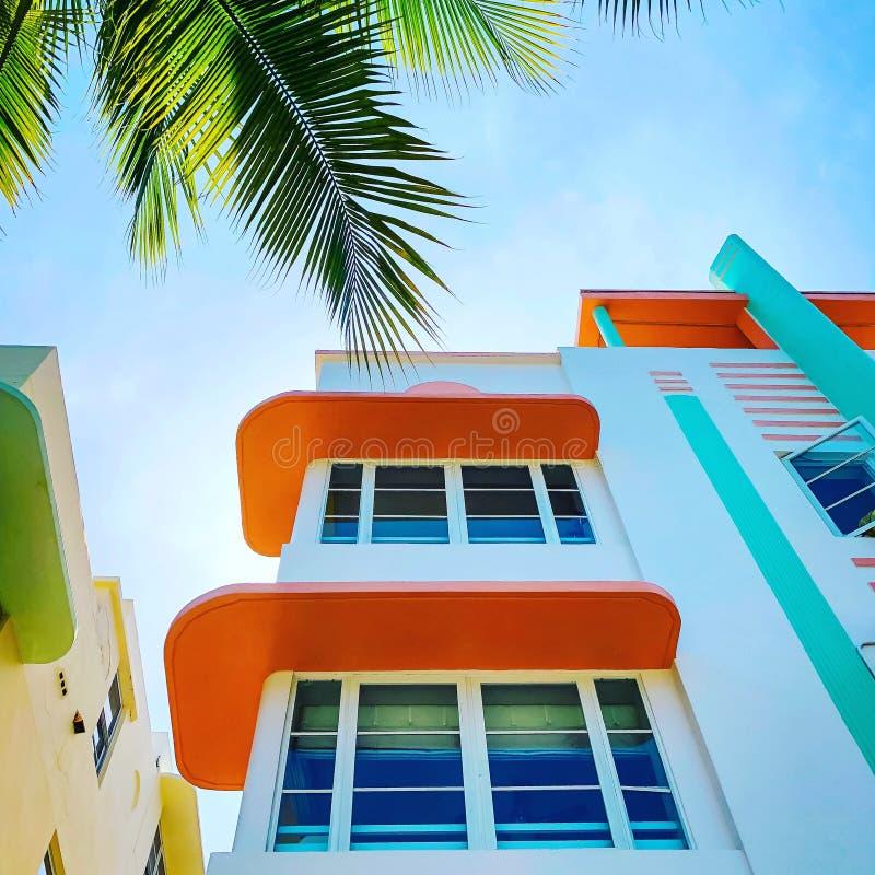 Ocean drive Miami. Florida southbeach architecture royalty free stock photo