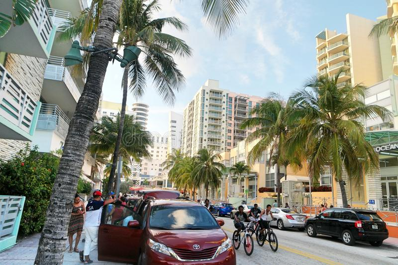 Ocean Drive on South Beach royalty free stock images